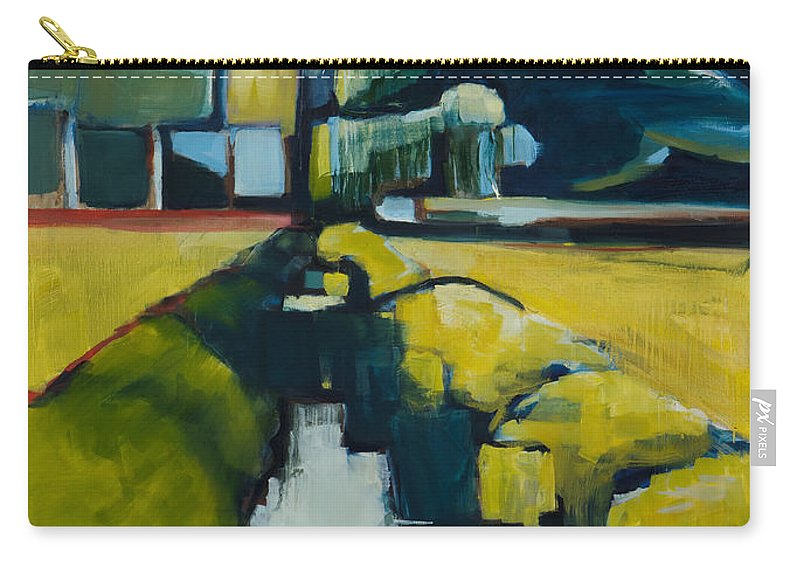 Contemporary Landscape Carry-all Pouch featuring the painting Viewpoint by Michele Norris