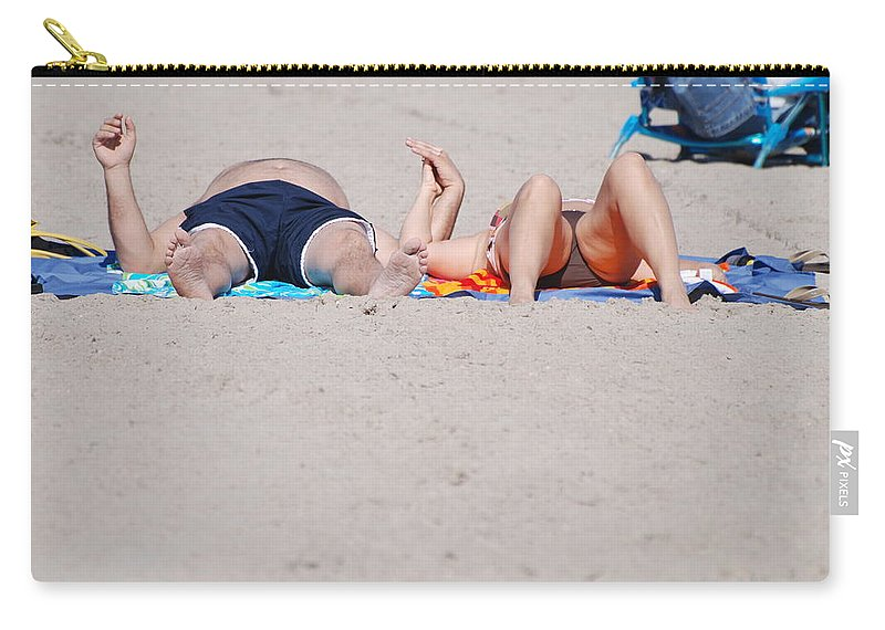 People Carry-all Pouch featuring the photograph Views At The Beach by Rob Hans