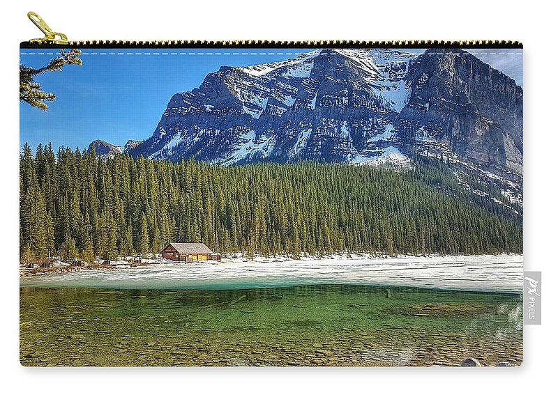 Views Carry-all Pouch featuring the photograph Views From Lake Louise Alberta by Nadia Seme