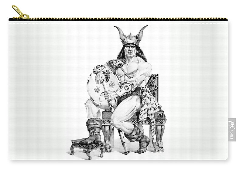 Viking Carry-all Pouch featuring the painting Viking Warrior by Melissa A Benson