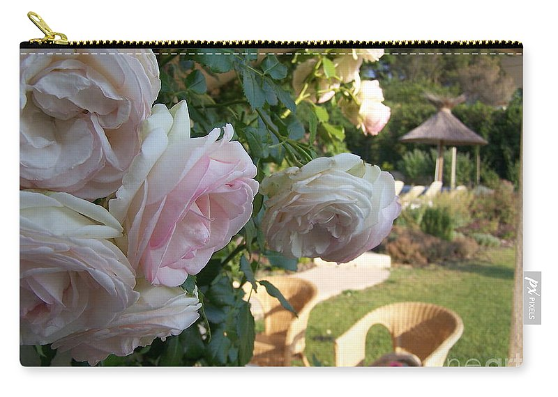 Roses Carry-all Pouch featuring the photograph Villa Roses by Nadine Rippelmeyer