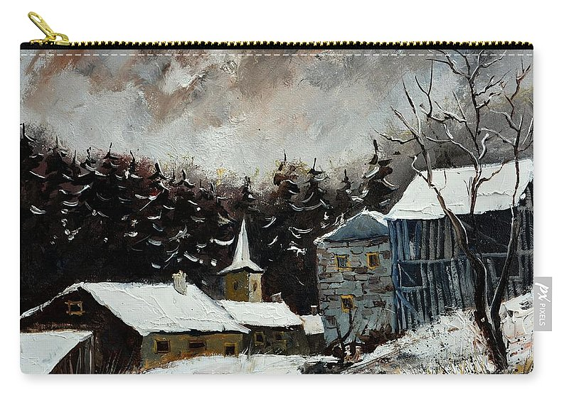 Landscape Carry-all Pouch featuring the painting Village Ardenne 5451 by Pol Ledent