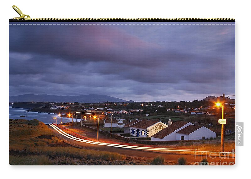 Capelas Carry-all Pouch featuring the photograph Village At Twilight by Gaspar Avila