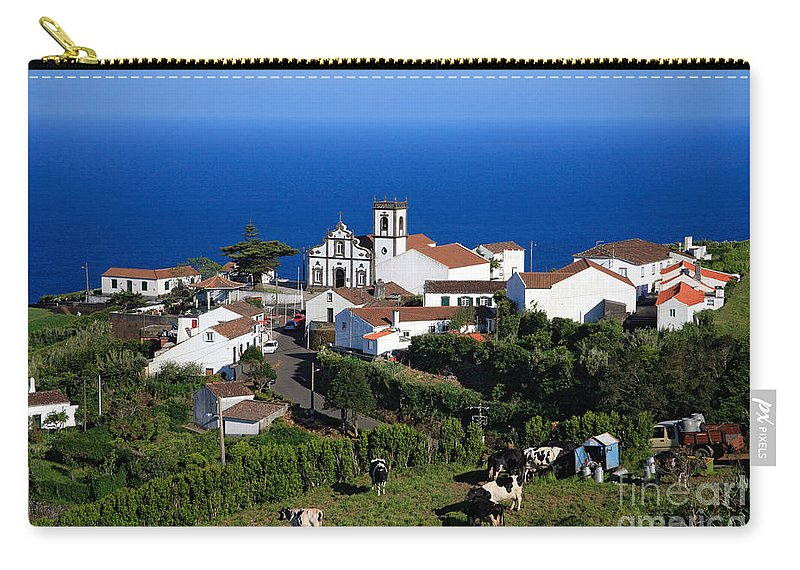 Azores Carry-all Pouch featuring the photograph Village In The Azores by Gaspar Avila