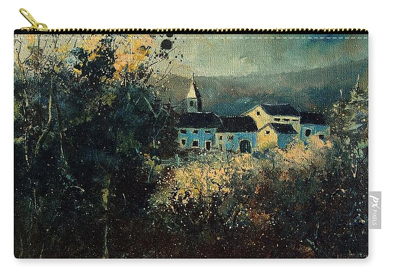 Landscape Carry-all Pouch featuring the painting Village by Pol Ledent