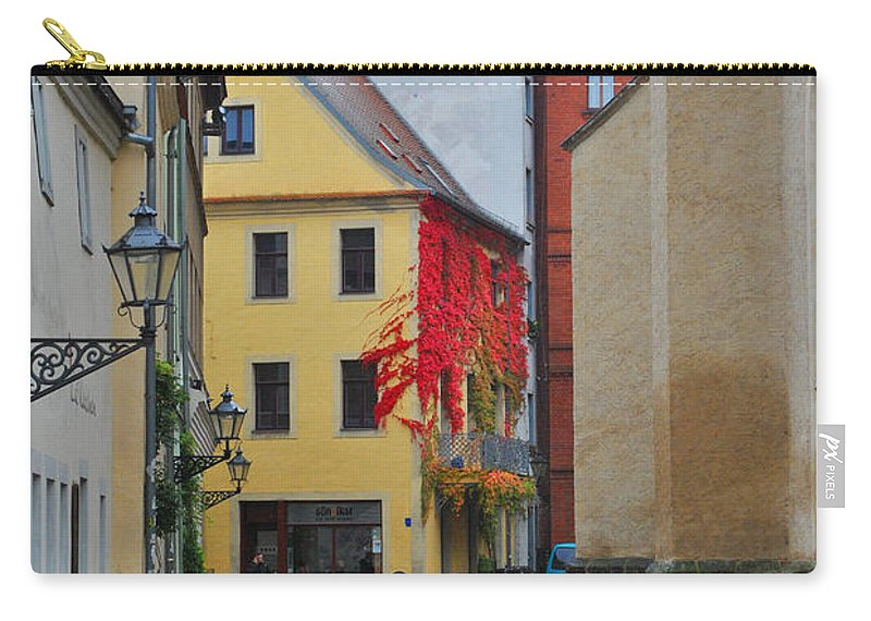 Wittenberg Carry-all Pouch featuring the photograph Village Red Vines by Jost Houk