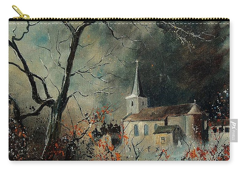 Tree Carry-all Pouch featuring the painting Village Vivy by Pol Ledent