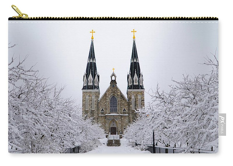Villanova Carry-all Pouch featuring the photograph Villanova University After Snow Fall by Bill Cannon