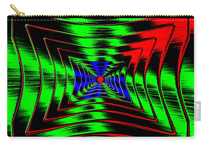 Energizing Carry-all Pouch featuring the digital art Vim And Vigor by Will Borden