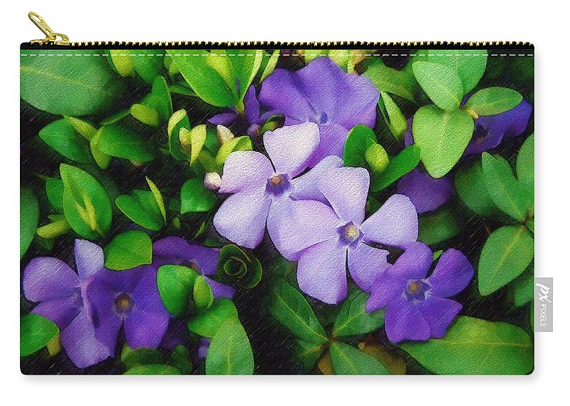 Vinca Carry-all Pouch featuring the photograph Vinca by Sandy MacGowan
