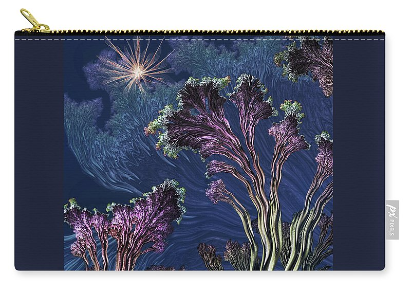 Carry-all Pouch featuring the mixed media Vincent's Reef by Steven Marcus