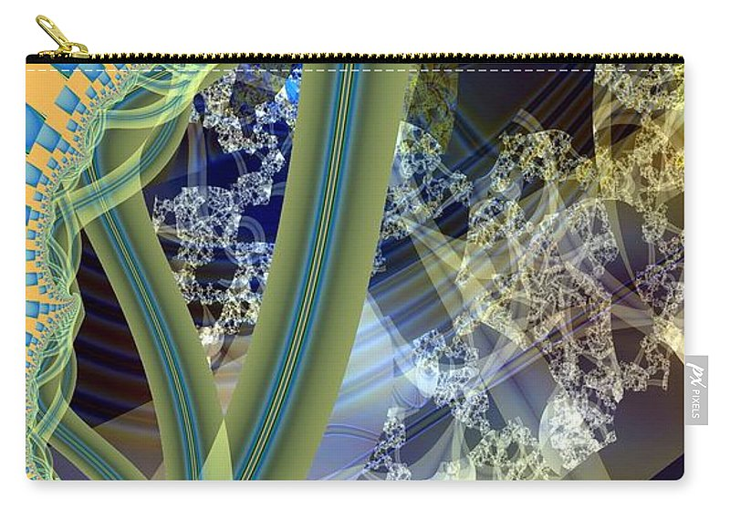 Vine Carry-all Pouch featuring the digital art Vine Inner Structure by Ron Bissett