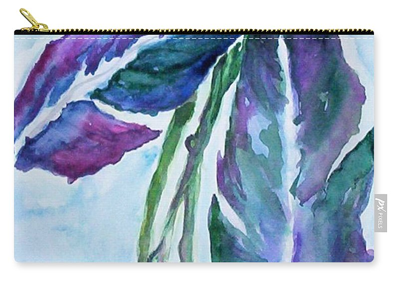 Landscape Carry-all Pouch featuring the painting Vine by Suzanne Udell Levinger