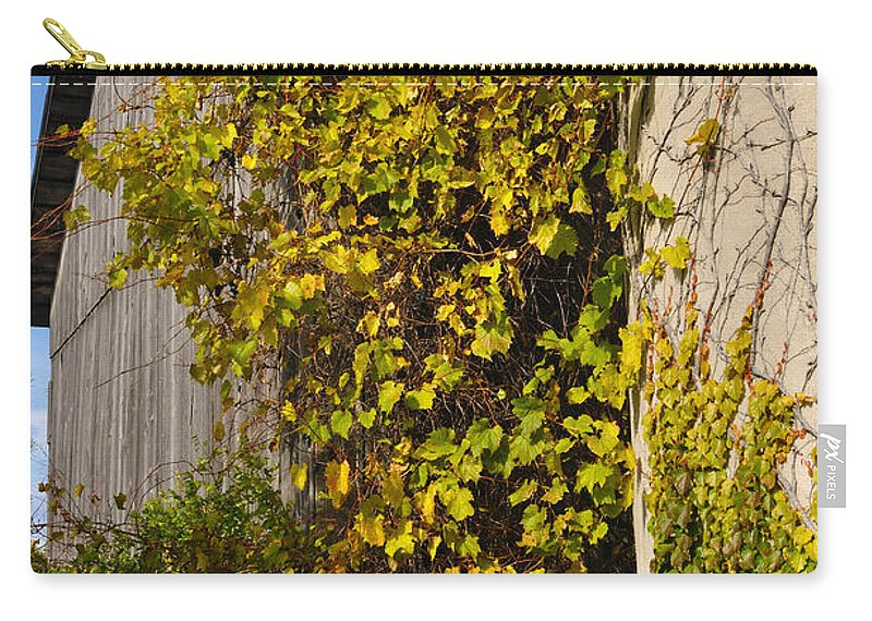 Silo Carry-all Pouch featuring the photograph Vined Silo by Tim Nyberg