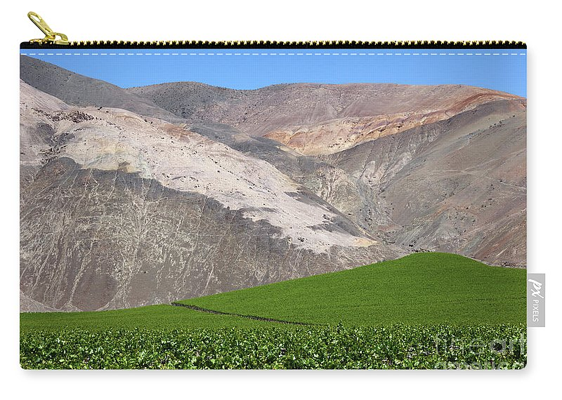 Chile Carry-all Pouch featuring the photograph Vineyards In The Atacama Desert Chile by James Brunker