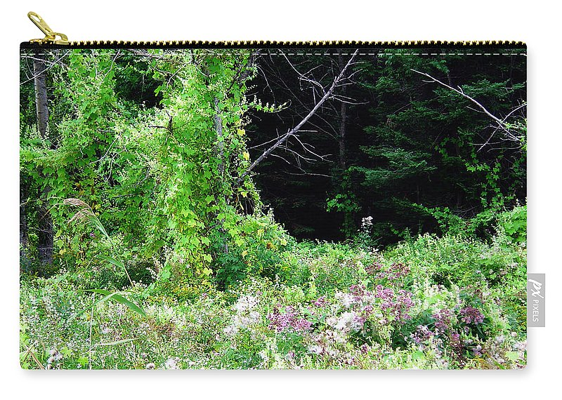 Vines Growth Near Pine Falls Manitoba Carry-all Pouch featuring the photograph Vines by Joanne Smoley