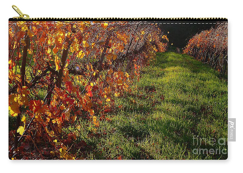 California Wine Country Carry-all Pouch featuring the photograph Vineyard 13 by Xueling Zou