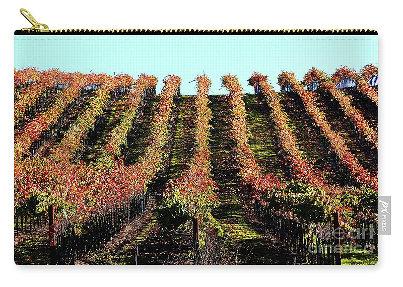 North California Napa Valley Wine Country Carry-all Pouch featuring the photograph Vineyard 27 by Xueling Zou