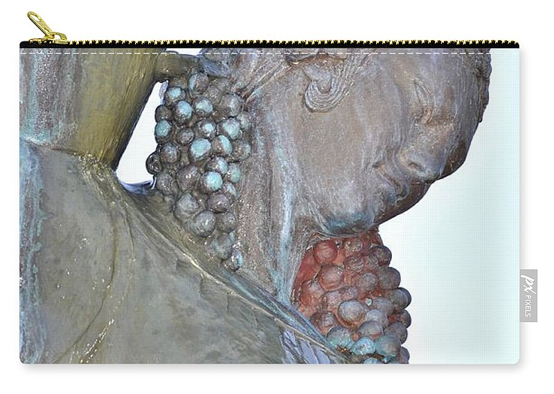 Vineyard Goddess Carry-all Pouch featuring the photograph Vineyard Goddess by Lisa Renee Ludlum