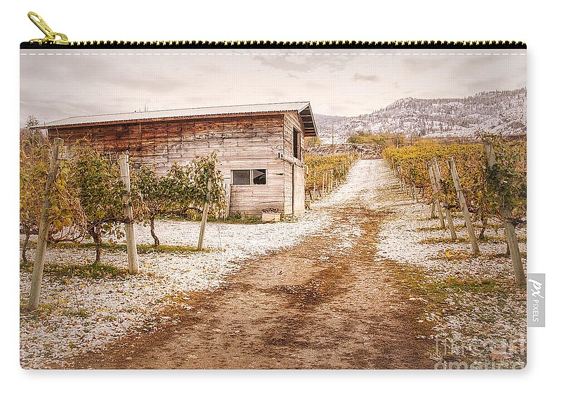 Orchards Carry-all Pouch featuring the photograph Vineyard Store House by Wendy Elliott