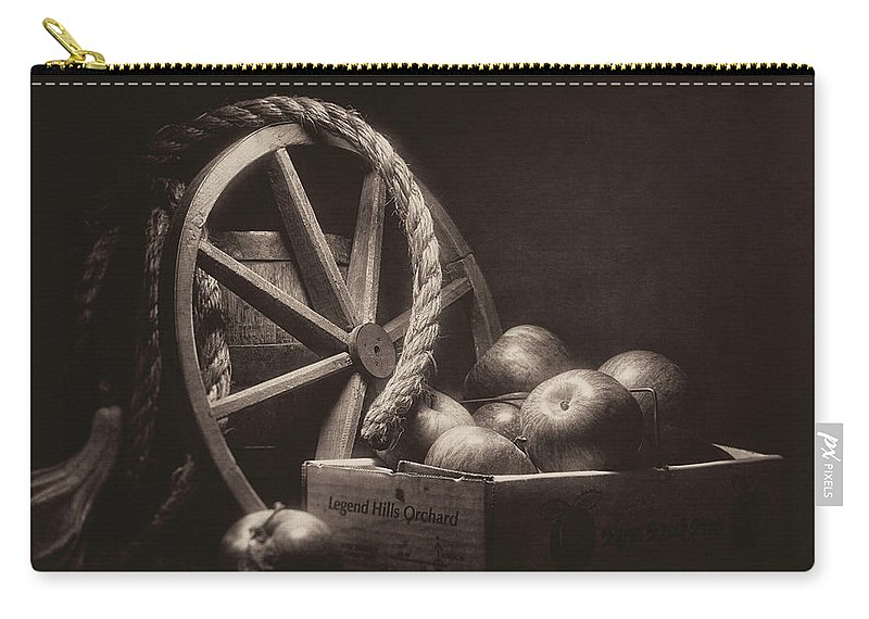 Abundance Carry-all Pouch featuring the photograph Vintage Apple Basket Still Life by Tom Mc Nemar