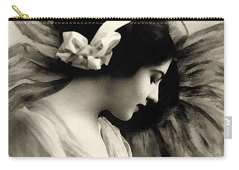 Vintage Carry-all Pouch featuring the painting Vintage Beauty by Georgiana Romanovna