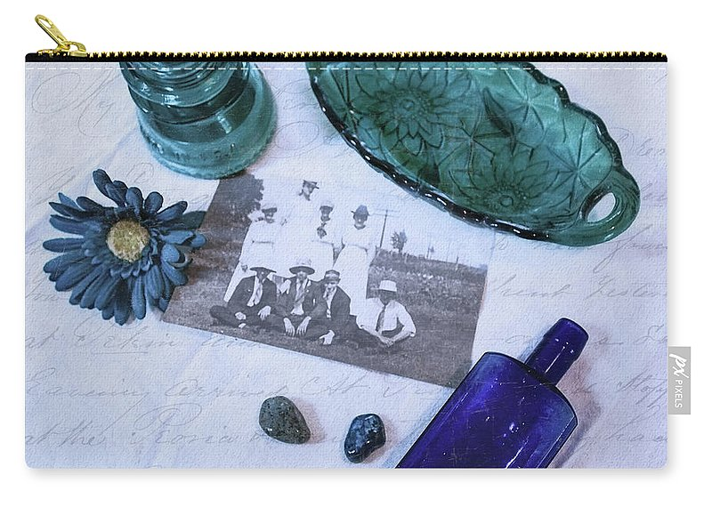 Vintage Blue Carry-all Pouch featuring the photograph Vintage Blue by Anna Louise