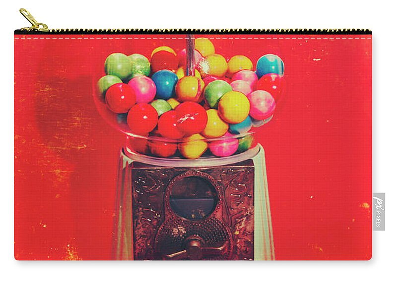 Retro Carry-all Pouch featuring the photograph Vintage Candy Store Gum Ball Machine by Jorgo Photography - Wall Art Gallery