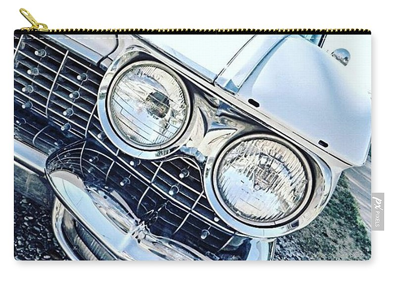 Instahappy Carry-all Pouch featuring the photograph #vintage #carcorners Just Make So by Austin Tuxedo Cat