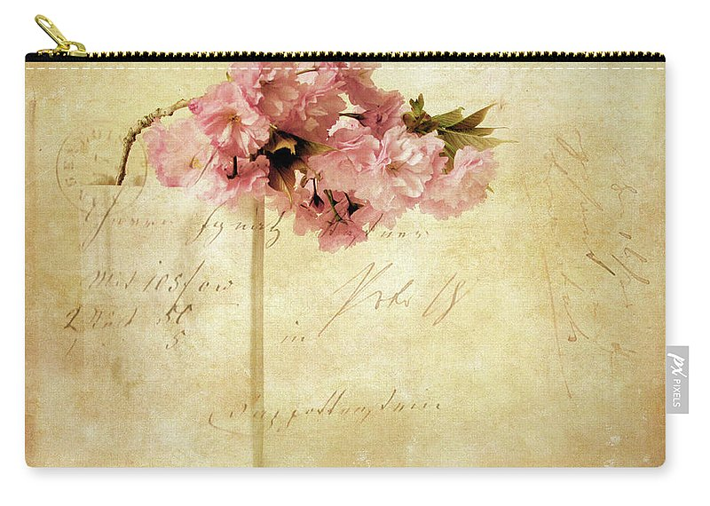 Flowers Carry-all Pouch featuring the photograph Vintage Cherry by Jessica Jenney