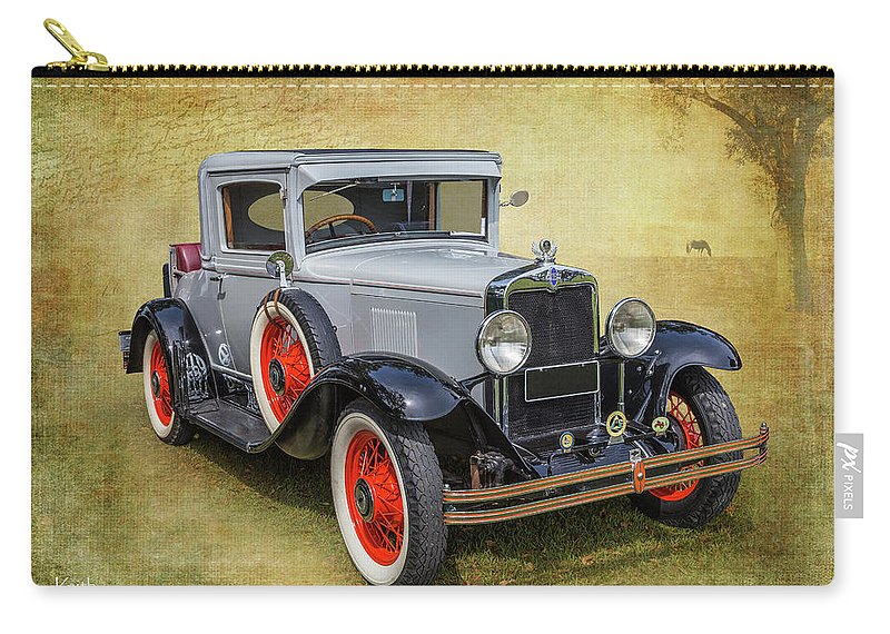 Car Carry-all Pouch featuring the photograph Vintage Chev by Keith Hawley