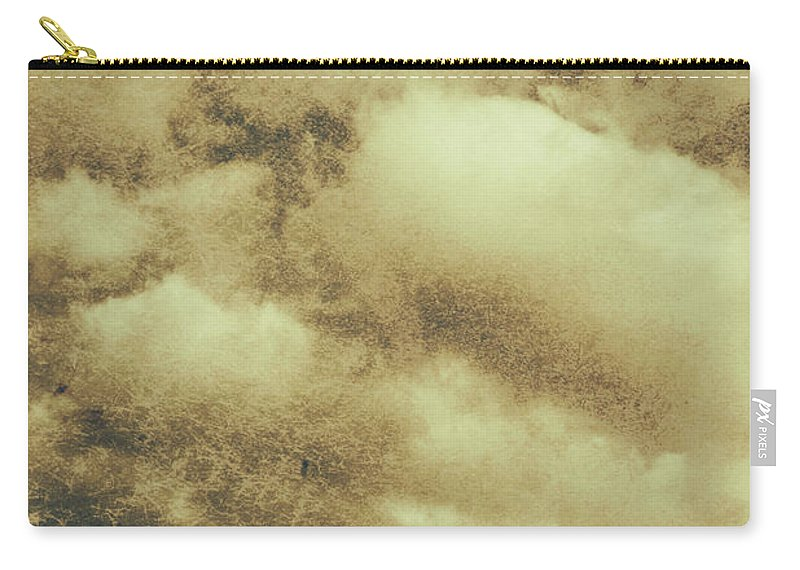 Vintage Carry-all Pouch featuring the photograph Vintage Cloudy Sky. Old Day Background by Jorgo Photography - Wall Art Gallery