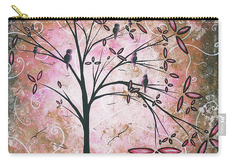 Art Carry-all Pouch featuring the painting Vintage Couture By Madart by Megan Duncanson