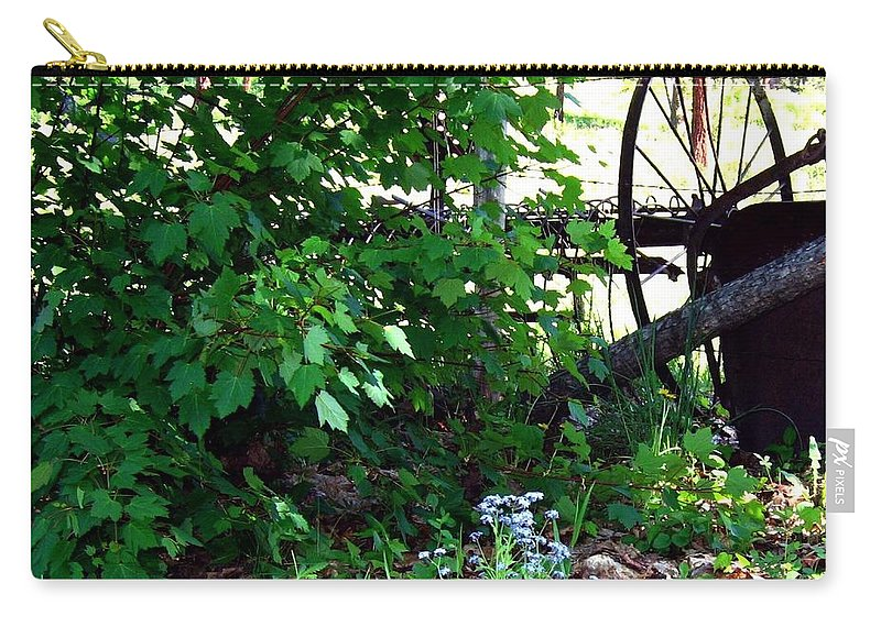 Farm Rake Carry-all Pouch featuring the photograph Vintage Farm Rake by Will Borden