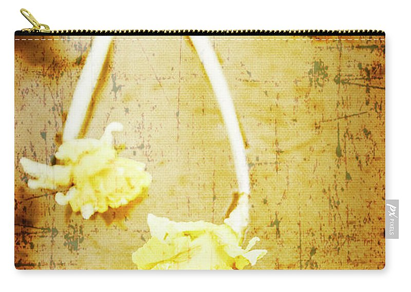 Vintage Carry-all Pouch featuring the photograph Vintage Floating River Flowers by Jorgo Photography - Wall Art Gallery