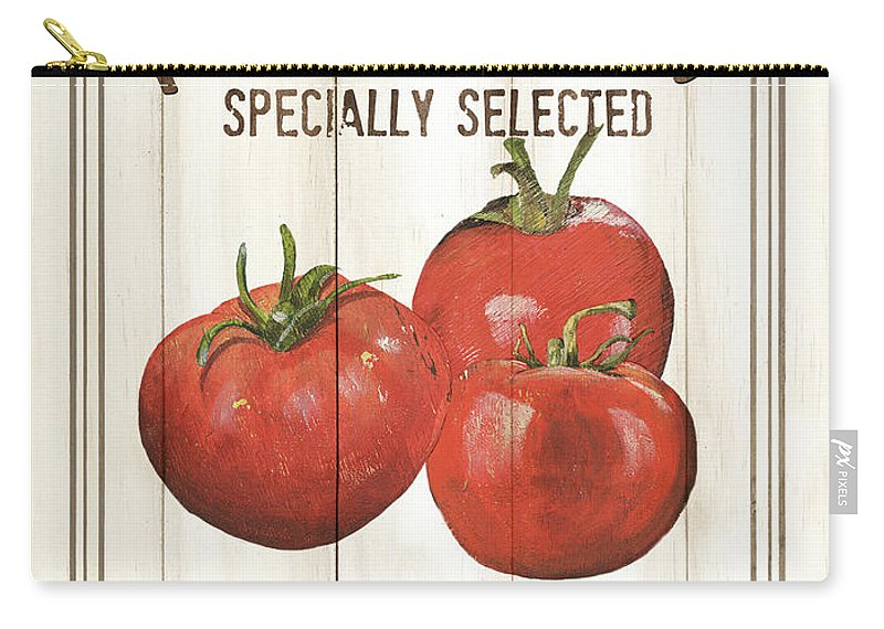 Tomatoes Carry-all Pouch featuring the painting Vintage Fresh Vegetables 4 by Debbie DeWitt