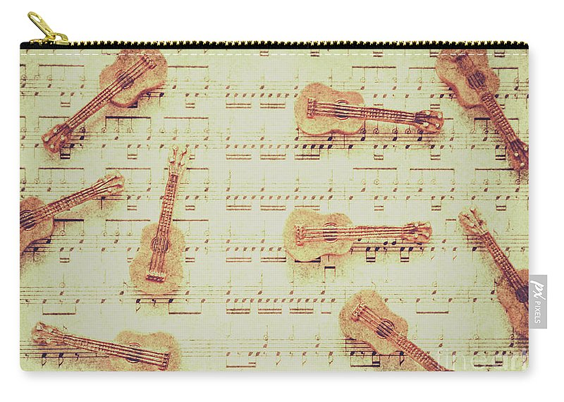 Guitar Carry-all Pouch featuring the photograph Vintage Guitar Music by Jorgo Photography - Wall Art Gallery