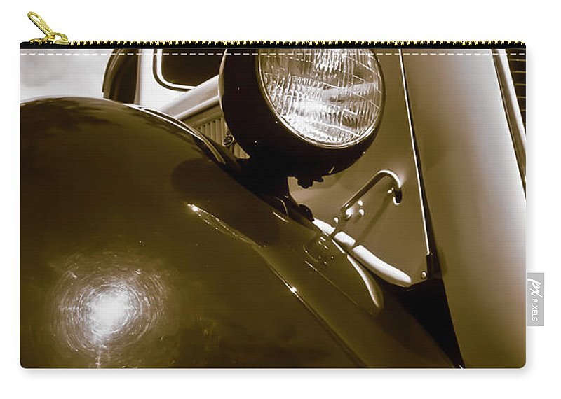 1937 Ford Carry-all Pouch featuring the photograph 1937 Ford Pickup Truck Maui Hawaii by Jim Cazel