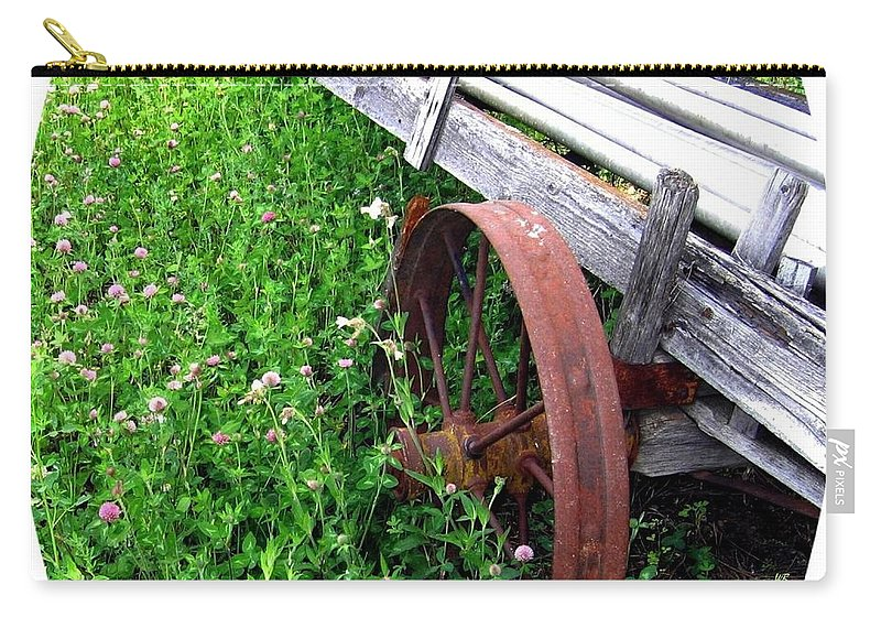 Irrigation Wagon Carry-all Pouch featuring the photograph Vintage Irrigation Wagon by Will Borden