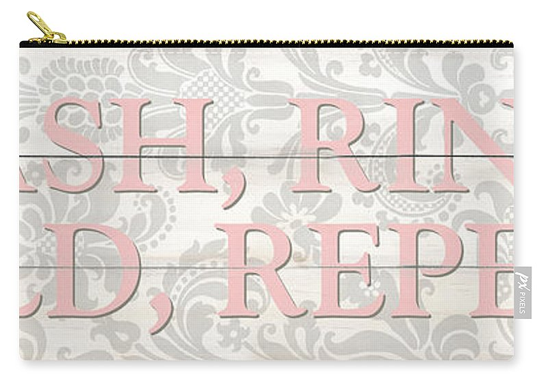 Laundry Carry-all Pouch featuring the painting Vintage Laundry Room Sign 2 by Debbie DeWitt