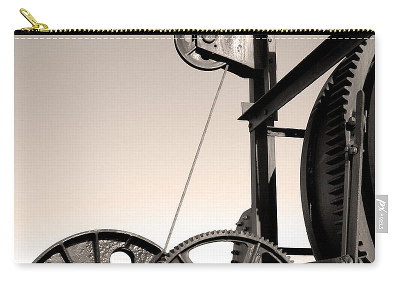 Antique Carry-all Pouch featuring the photograph Vintage Machinery by Gaspar Avila