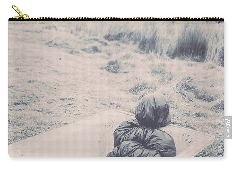 Scary Carry-all Pouch featuring the photograph Vintage Murders by Jorgo Photography - Wall Art Gallery