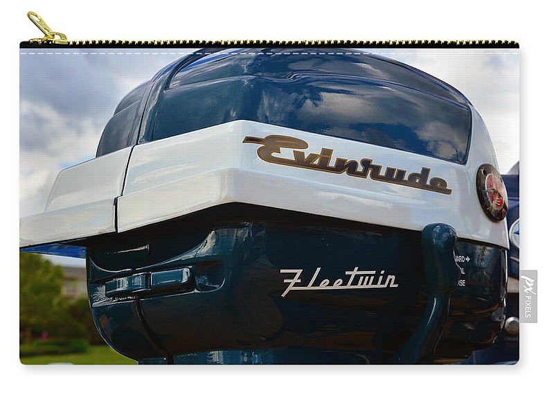 Vintage Outboard Carry-all Pouch featuring the photograph Vintage Evenrude Outboard by David Lee Thompson