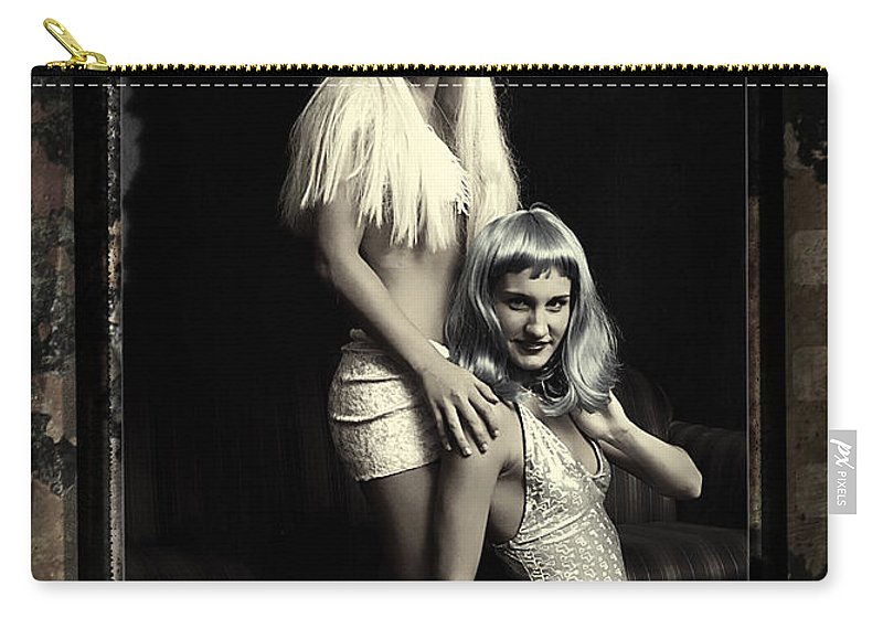Clay Carry-all Pouch featuring the photograph Vintage Party Girls by Clayton Bruster