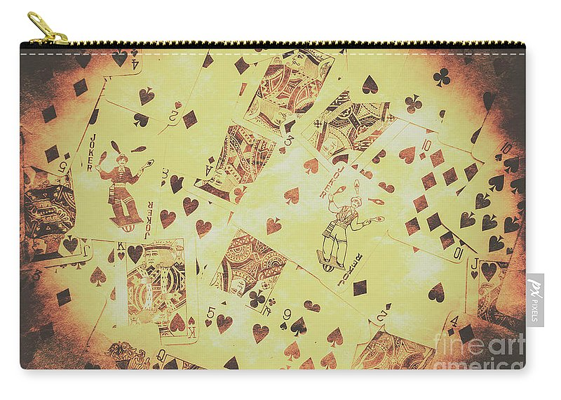 Vintage Poker Card Background Carry-all Pouch for Sale by Jorgo ...