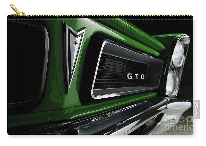 Car Carry-all Pouch featuring the photograph Vintage Pontiac Gto - Doc Braham - All Rights Reserved by Doc Braham