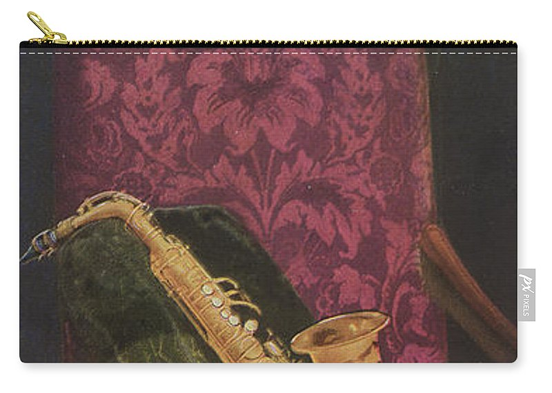 Music Carry-all Pouch featuring the painting Vintage Poster by American School