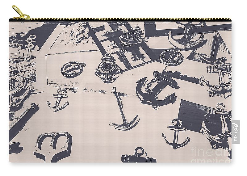 Nautical Carry-all Pouch featuring the photograph Vintage Sailing Art by Jorgo Photography - Wall Art Gallery