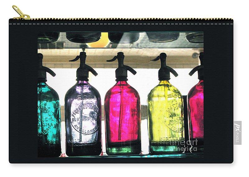 Seltzer Carry-all Pouch featuring the photograph Vintage Seltzer Bottles 2 by Susan Lipschutz
