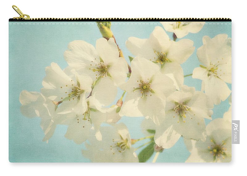 Flower Carry-all Pouch featuring the photograph Vintage Spring Blossoms by Kim Hojnacki